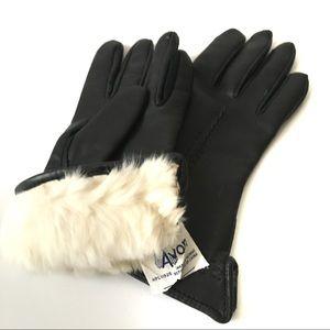 Avon Vintage Gloves Novahide Leather Fur Lined